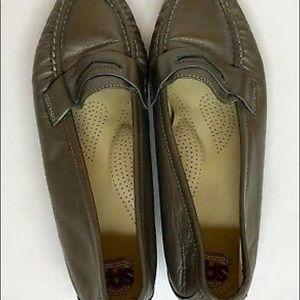 SAS Shoes - SAS Size 9 Gray Penny Loafers Metallic Shoes